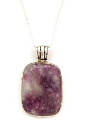 Large Beautiful Purple Southwestern Sterling Silver Necklace. 22 Grams