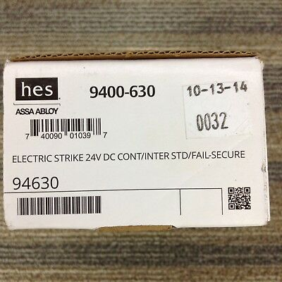 New HES 9400-630Slim Line Surface Mounted Electric Strike