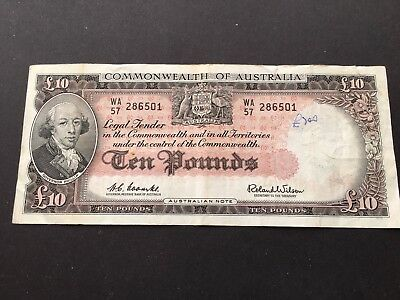 10 pounds Coombs/Wilson 1961,very  nice scarce banknote!!!