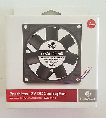 "RadioShack 12V DC 4"" Cooling Fan Brushless 2730243"