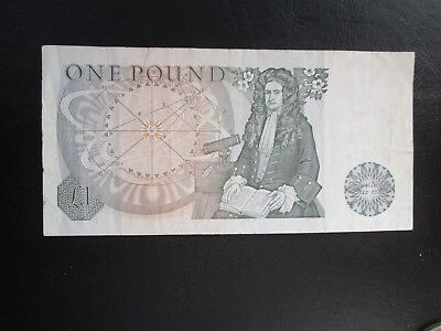 Sir Isaac Newton One Pound Note bank of England