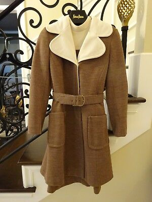 Vintage Tan Cream  Lilli Ann  2 Piece Dress with Jacket $1 NO RESERVE 1960's