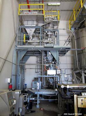Used- Smurfit Stone Valve Bag Packaging Line System, Air Packer Model Drive Forc