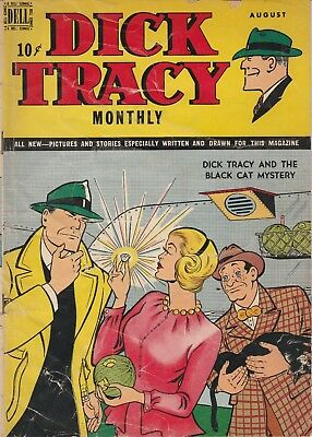 1949 August Dick Tracy Monthly 4 Color Dell Vintage Comic Book 10 Ct Golden Age