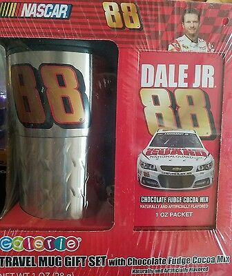 NEW  DALE EARNHARDT JR #88 TRAVEL MUG GIFT SET NASCAR GALERIE Nascar