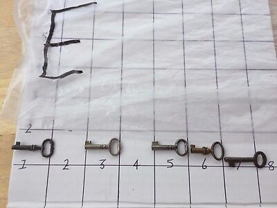 Vintage/Antique metal small caddy or chest keys lot E