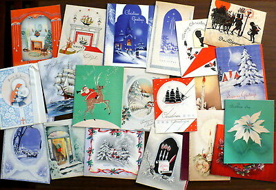 Vtg Lot Art Deco Era Christmas Cards 1930's 1940's