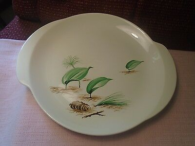 W.S. George Forest Floor pinecones GEO44 Platter (1) 13 inch (2 avail.) Rare