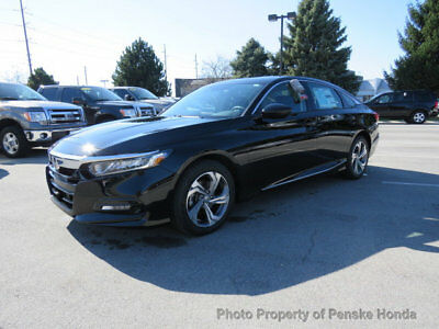 2018 Honda Accord EX CVT Sedan EX CVT Sedan New 4 dr CVT Gasoline 1.5L 4 Cyl Crystal Black Pearl