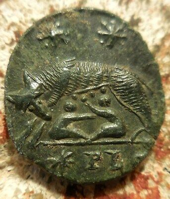 City Commemorative 332-333 AD. VRBS ROMA, Very Sharp Wolf and Twins!