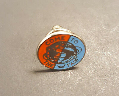 Vintage 1964 1965 New York Worlds Fair NYWF Come to the Fair Pin