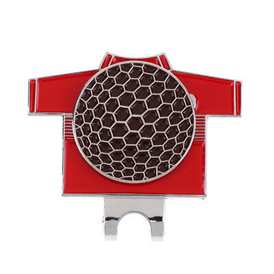 Funny Golf T Shirt Pattern Magnetic Hat Clip with Golf Ball Marker Red