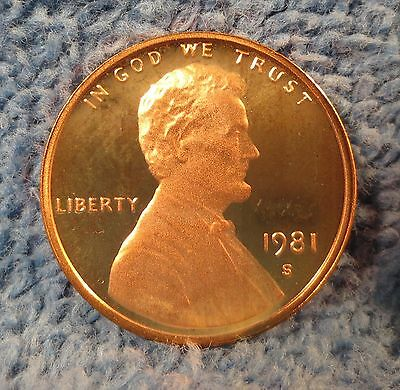 """1981-S Type 2 flat """"S"""" Proof Lincoln cent. Additional items ship free!"""