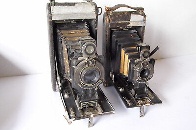 Lot of 2 Camers,a No.1 A kodak Junior Model A & a #2-C Autographic Jr. For Parts