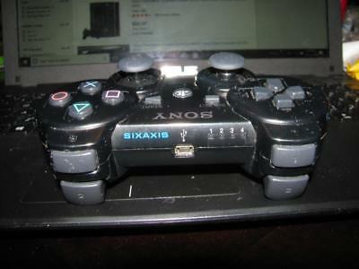 Official Oem Black Sony Playstation 3 (Ps3) Wireless Sixaxis Controller