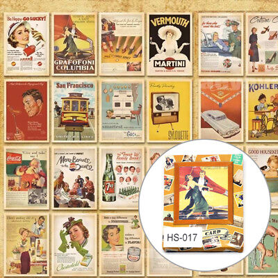 32pcs Lot Mixed Vintage Retro Postcards Advertising Movie Travel Post Cards L4U