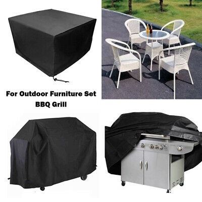 Garden Rattan Outdoor Furniture BBQ Cover Patio Table Protector Waterproof L M S