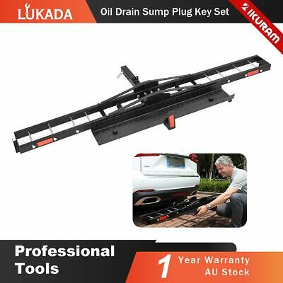 IKURAM Steel Motorcycle Carrier Rack Motorbike Towbar 2″Hitch Mount with Ramp