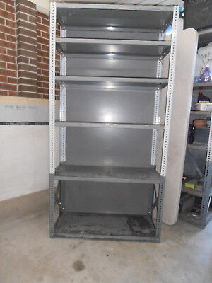 steel shelving units- set of 3-old style heavy gauge-value!