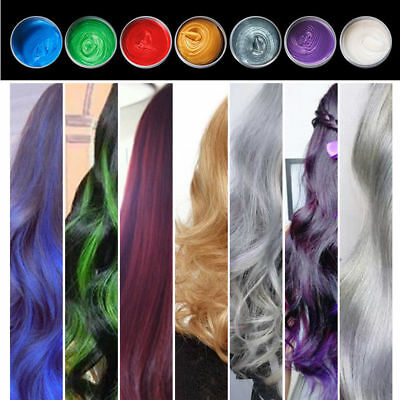 8 Colors Unisex DIY Hair Color Wax Mud Dye Cream Temporary Modeling HOT