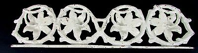 Cast Iron Set of 4 Tropical Hibiscus Flower Border Railing Architectural Piece