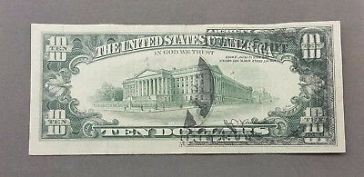 $10 Note Offset Print Error Series 1974 Ten Dollar Bill / Circulated US Currency