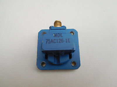 MDL Waveguide-to-Coax Adapter, WR-75 to SMA (f), 10-15 GHz, 75AC126-1E, 1.065:1
