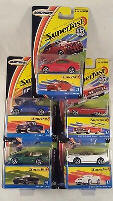 Matchbox Superfast 35 Years Lot Set of 5 / '61 Dart - Mustang - BMW - Jaguar XK8
