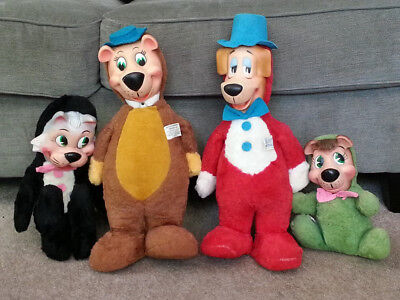 Vintage 1959 Knickerbocker Toy Inc Huckleberry Hound Plush Toy rubber face LOT!