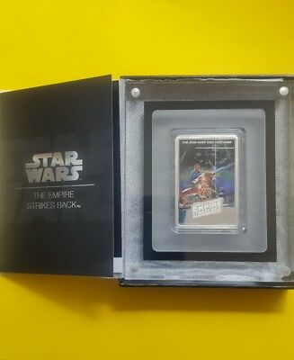 2017 Star Wars Empire Strikes Back Poster Coin- 1 Oz. Silver - New & Sold Out