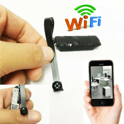 WiFi Mini Hidden Spy Camera Wireless IP Pinhole DIY Digital Video Nanny Cam US