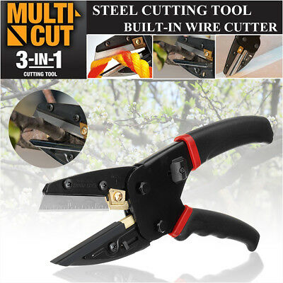 Cut 3 In 1 Pliers Power Crimping Cutting Tool With Built-In Wire Cutter Scissor