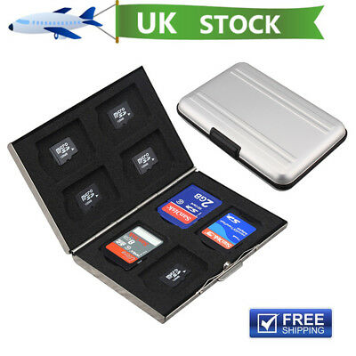 8 Slots Micro Memory SDHC MMC SD Card Storage Case Holder Anti-shock Wallet Box