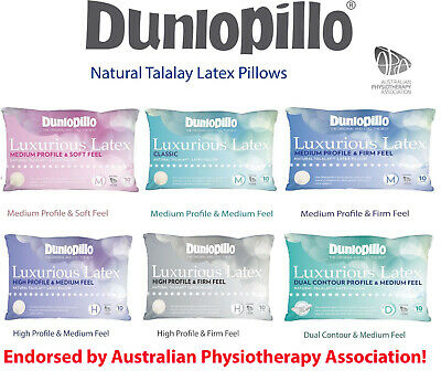 Dunlopillo Luxurious Talalay Latex Soft| Classic Medium| High Firm| Dual Pillows