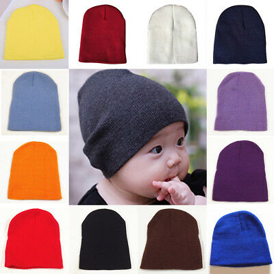 Cap Winter Warm Boy Girl Hat Beanie Baby Kids Knitted Crochet Newborn Toddler