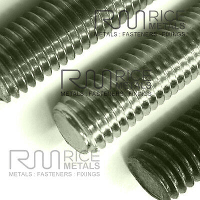 A4 STAINLESS STEEL Threaded Bar Studding Stud Bar ALL SIZES FREE NUTS & WASHERS