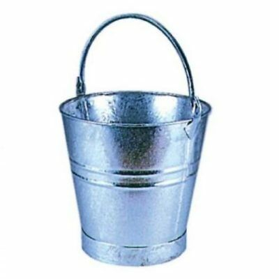 """Traditional Galvanised Strong Steel Metal Small Large Bucket 12"""""""