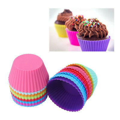 12pcs Round Silicon Cake Baking Molds Jelly Mold Silicon Cupcake Pan Muffin Cup