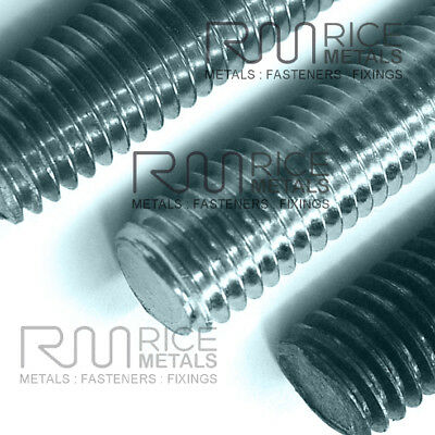 ALUMINIUM Threaded Bar Studding Stud Bar ALL SIZES FREE NUTS & WASHERS