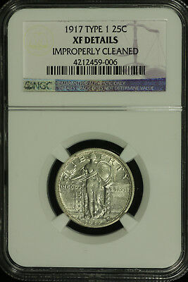 Standing Liberty Silver Quarter. 1917 P. Type 1 NGC XF Details Lot # 4212459-006