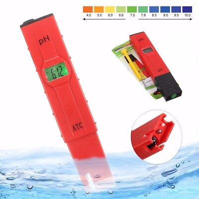 Portable LCD Digital PH Tester Meter Pen Aquarium Pool Hydroponic Water Monitor