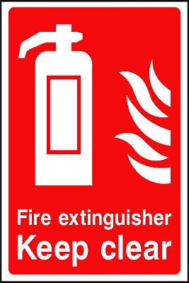 Fire Extinguisher Keep Clear Self Adhesive Stickers Safety Signs