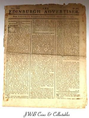 Antique Newspaper - Vol.VIII The Edinburgh Advertiser 1767 - Section On America