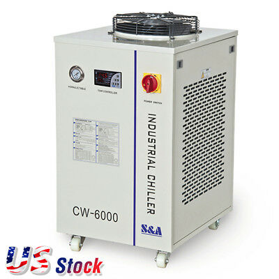 S&A CW-6000BN Water Chiller for 100W Solid-state Laser, CNC Spindle 220V, 60Hz