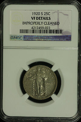 Standing Liberty Silver Quarter. 1920 S. NGC VF Details Lot # 4212459-022