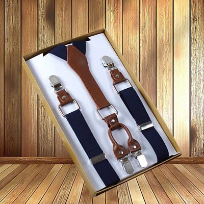 Women Men Color X-Back Clip Suspenders Adjustable Elastic Retro Formal Dress Tux