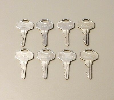Lot of 8 Numbered ALPHA LOCK COMPANY Used Replacement Keys