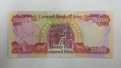 1 x 25,000 New Iraqi Dinar (IQD) UNC + 120 Day option for 1,000,000 more IQD