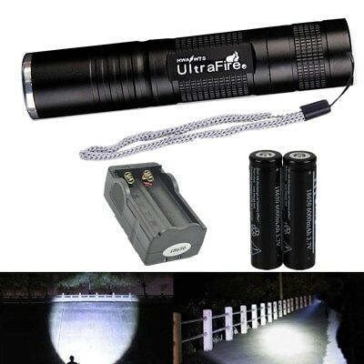 UltraFire Tactical Waterproof 18650 Bicycle Flashlight Torch Light Hunting Camp