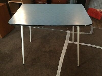 Retro 1960's Formica kitchen table in blue